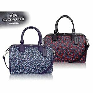 NWT Coach Mini Bennett Satchel in Ranch Floral  Print Coated Canvas 59445