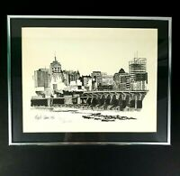 Eliza B Askin Limited Edition Print City Skyline 8/275 Initialed by Artist 1987