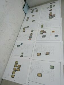 Nystamps Mexico old stamp collection Album page with better