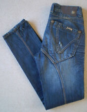 Long High Rise 34L Jeans Distressed for Men