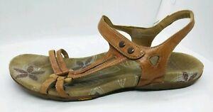 Abeo Fantine Womens Sz 10 Comfort Sandal Vibram Bottom Brown Leather Bio System