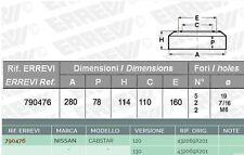 2 X TAMBURO FRENO POSTERIORE NISSAN CABSTAR 120 130 N.OE 432069X201