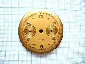 Cadran montre watch chronographe dial landeron 48 148 248 Ø 33,5 mm chrono n39