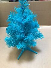 16 MINI BLUE CHRISTMAS TABLE TREES OFFICE RESELL CRAFT WHOLESALE XMAS 45 TIPS N