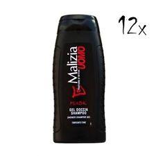 12x MALIZIA UOMO Musk Männer Duschgel & Shampoo 2in1 250ml Duschcreme Shampoo