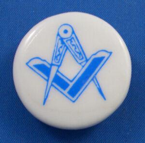 Birchcroft China Button -- Masonic Square & Compass - One Inch Size ( 25 mm )