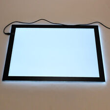 A3 LED Leuchttisch Leuchttablett 430x310mm dimmbar Leuchtpult Leuchtplatte