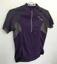 Endura Womens Cycling Jersey 1/2 Zip Short Sleeve Size L Large Purple Gray Black