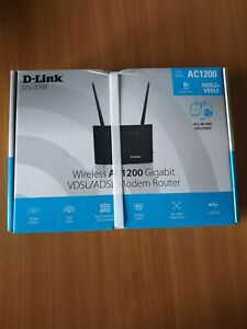 D-Link AC1200 Wi-Fi Router modem wireless nuovo ADSL