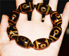 three eyed tibetan dzi bead gzi tibet amulet 3 eyes old antique genuine bracelet