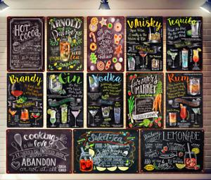 Tiki Open Bar Beer Retro Metal Tin Sign Arnold Cocktail Plaque Bar Wall Decor