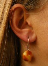 Silberohrringe Bernstein Bernsteinohrringe Amber earrings ORANGE Silber  925