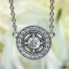 Pandora Vintage Circle Collier Necklace, Adjustable Chain, S925 ALE Hallmarked