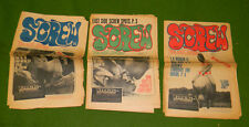 Vintage SCREW Magazine Early Sex Newspaper Lot of 7 Collectors MUST L@@K