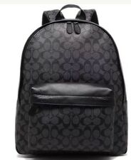 Coach Campus Backpack Charcoal/Black Signature F55398 Char/Black NWT