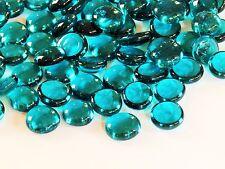 100 x Verre Galets/Nuggets/Pierres/Gemmes/Mosaïque-Turquoise Cristal