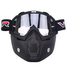 Snowboard Snowmobile Ski Sport MX Face Mask Helmet Goggles Anti Fog UV Glasses