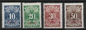 1925 Albania   Albanian Stamps. Postage Due . Hinged