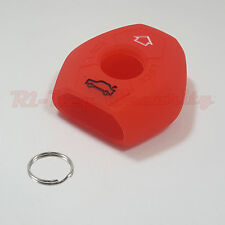 Red Protective Rubber Case Silicone Cover Skin Jacket Fit BMW Remote Key