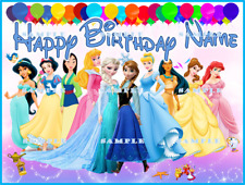 DISNEY PRINCESSES: Personalized edible cake topper  FREE SHIPPING in Canada