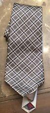 TOMMY HILFIGER TIE Gray Blue White Silk Men's Neck Tie