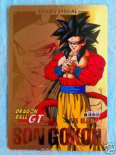 OOAK DRAGONBALL GT CARDDASS Part29 Gold Card No.127 1127 Super Saiyan 4 SON GOKU
