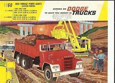 """DODGE C800, C900, C1000 4x2, ct700, ct800, ct900 6X4 CAMION vendita """"opuscolo"""" foglio 1960"""
