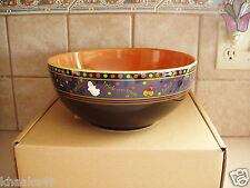 Cute Longaberger Pottery Halloween Party Boo Bowl Candy Treats Nib Free Shipping