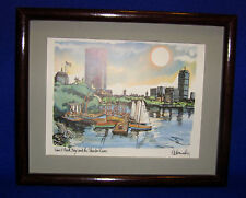 Matted & Framed Print of Back Bay-SHIPPING INCLUDED