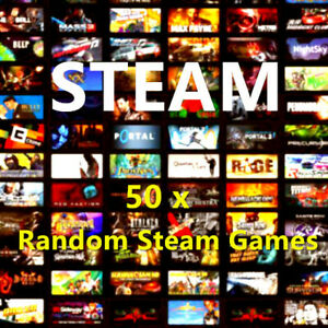 Steam Games x 50 Random Steam Key PC Games Bundle + 2 PREMIUM Keys ~ REGION FREE