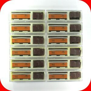 N Scale MDT-NYC NEW YORK CENTRAL 40' Box Car Reefer 12-Pack Set -- INTERMOUNTAIN