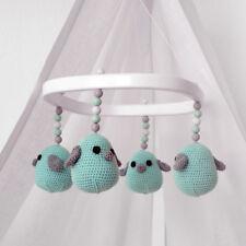 Baby Mobile - tweeto Vögel mint - HANDMADE - für Babybett Stubenwagen Babywiege