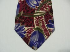 """CELLINI COLLECTION - FLORAL PRINT - VINTAGE MADE IN USA - WIDE 4"""" SILK NECK TIE!"""