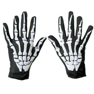 1 Pair Cycling Bicycle Motorcycle Halloween Skull Claw Bone Skeleton Gloves Goth