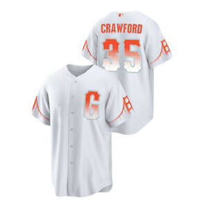 Men's San Francisco Giants Brandon Crawford White 2021 City Connect Replica