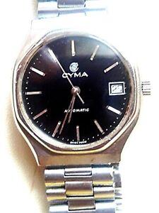 Vintage Cyma Swiss made automatic men's watch.
