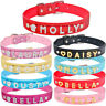 Leather Personalized Dog Cat Collar Small Puppy Kitten Pet Name Bling Rhinestone