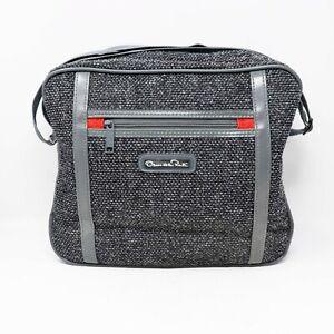 Vintage Oscar de la Renta Bag Weekender Luggage Travel Tweed Unisex Womens Mens