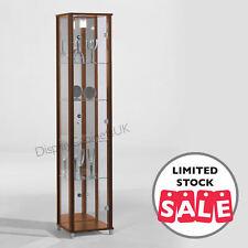 Unno Dark Brown Display unit Wenge 1 Door Glass Display Cabinet