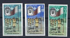 QATAR 1965 SCOUTS SG 59-61 RARE IMPERFORATE SET OF THREE. SEE SCANS.