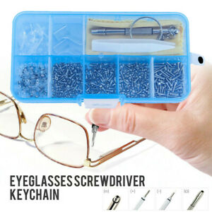 102x Viti + cacciavite per Watch occhiali vista Strumenti di riparazione Kit