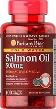 Omega-3 Salmon Oil 500 mg(105 mg Active Omega-3) x 100 Softgels *AMAZING PRICE*