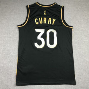 Warriors 30 Stephen Curry Jersey new Season The Town Black big size S-6XL