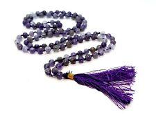 Amethyst Spiritual Stone Japa Mala 108 + 1 Beads for Calm Balance Patience Peace