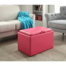 Convenience Concepts Designs4Comfort Accent Storage Ottoman, Pink - 143523PK