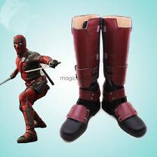 Hot Sell Quality X-men Superhero Deadpool Cosplay Boots Shoes Detachable