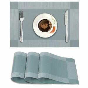 45x30 cm Washable Placemats For Table Made Of PVC(Pack Of 4 Pc)-Geometric Blue