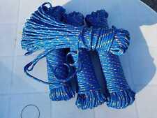 Seil,Tauwerk, Bootsleine, Fender, Festmacher, Gartenseil, blau, 4 mm, 30 Meter
