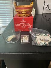 Longaberger 1999 Tree Trimming Christmas Peppermint Basket Combo New Red