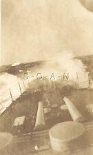 WWI Original US Navy AZO RPPC- Warship- Battleship- USS Georgia- Guns- Storm